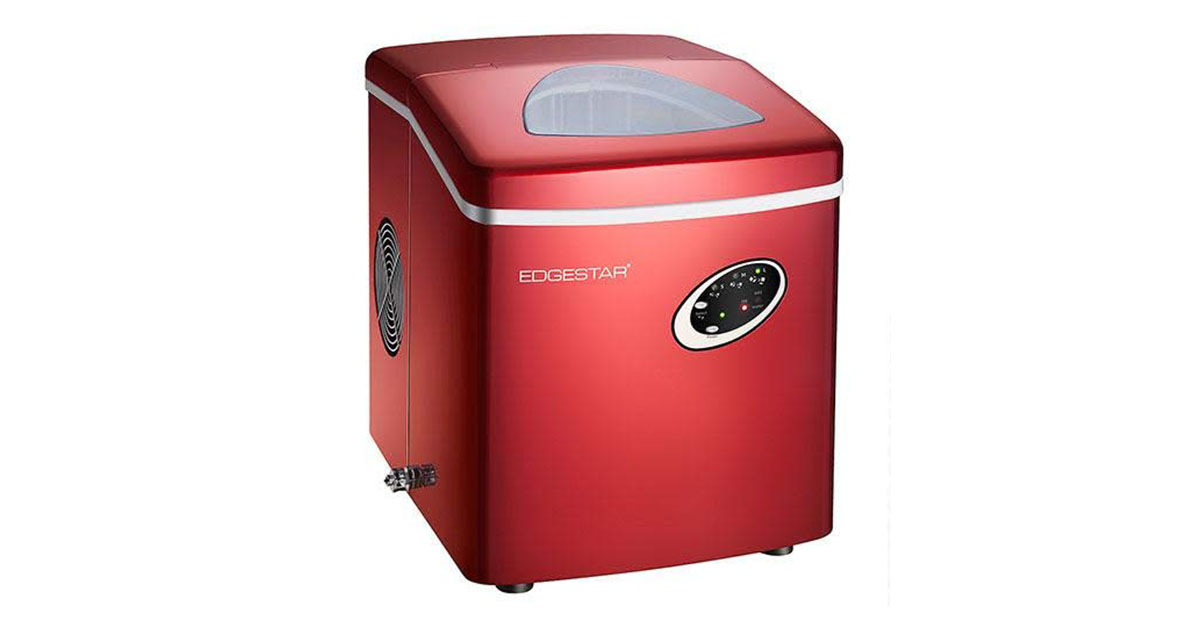 EdgeStar IP210RED Red Portable Countertop Ice Maker image