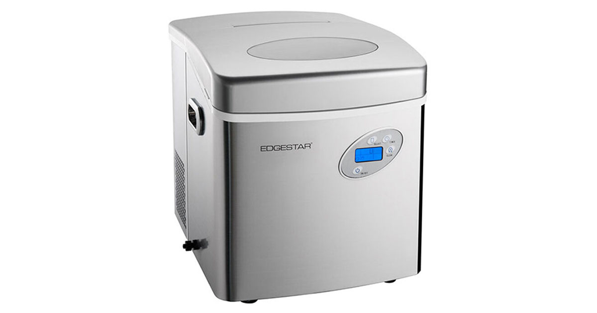 EdgeStar IP250SS Large Capacity Portable Countertop Stainless Steel Ice Maker image