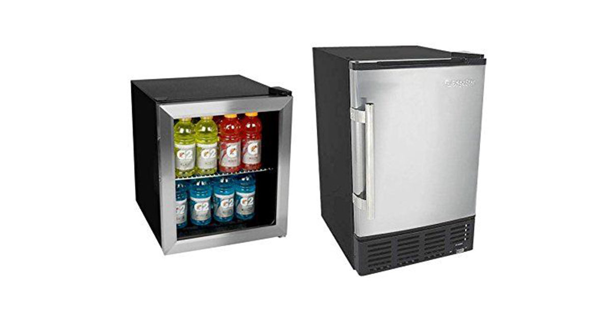 Edgestar 62 Can Extreme Cool Beverage Cooler and 12lb Built in BWIB7012SS Ice Maker image