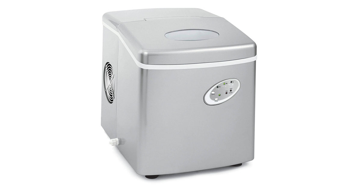 Emerson IM90T Portable 26 lbs Ice Maker Refrigerator w Ice Scoop   Electronic Controls image