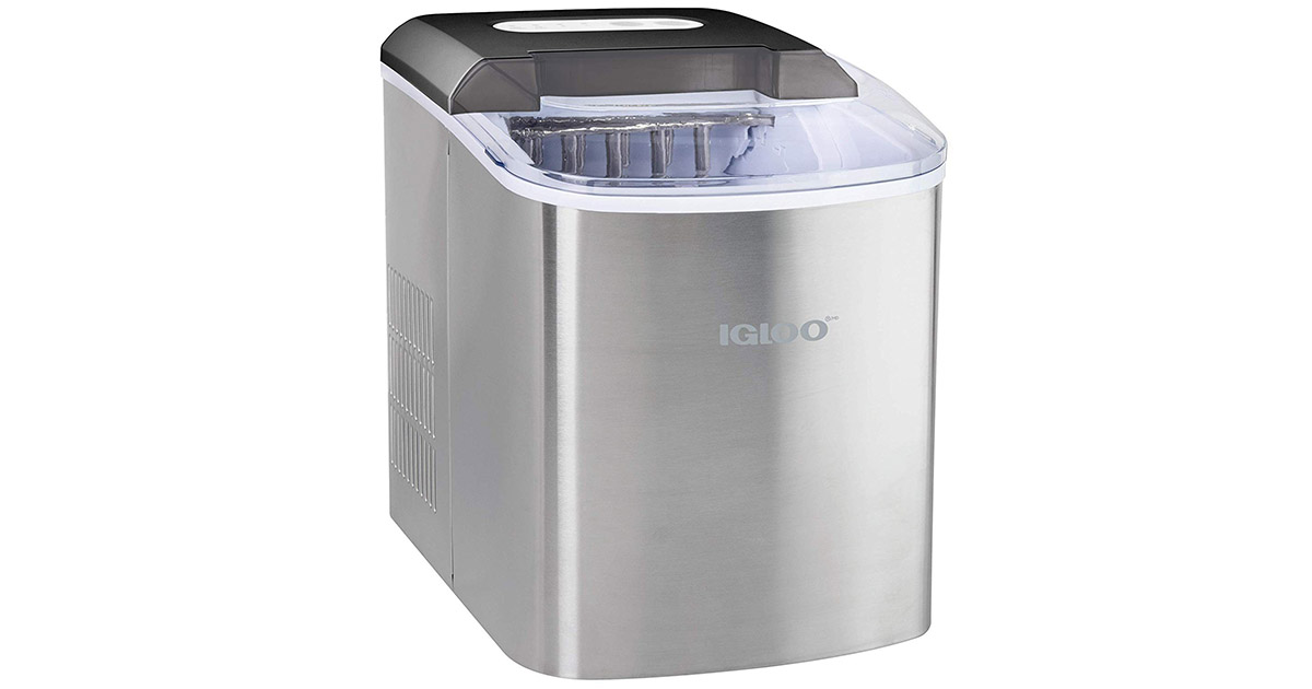 Igloo ICEB26SS 26-Pound Automatic Portable Countertop Stainless Steel Ice Maker Machine image