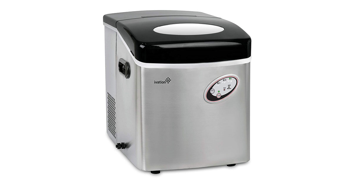 Ivation IVAICM48LBSS 48-Pound Daily Capacity Counter Top Ice Maker image