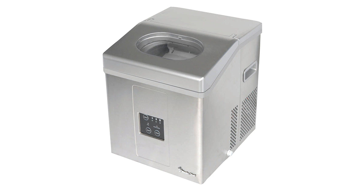 Magic Chef MCIM30SST 30lb Capacity Stainless Steel Portable Ice Maker image