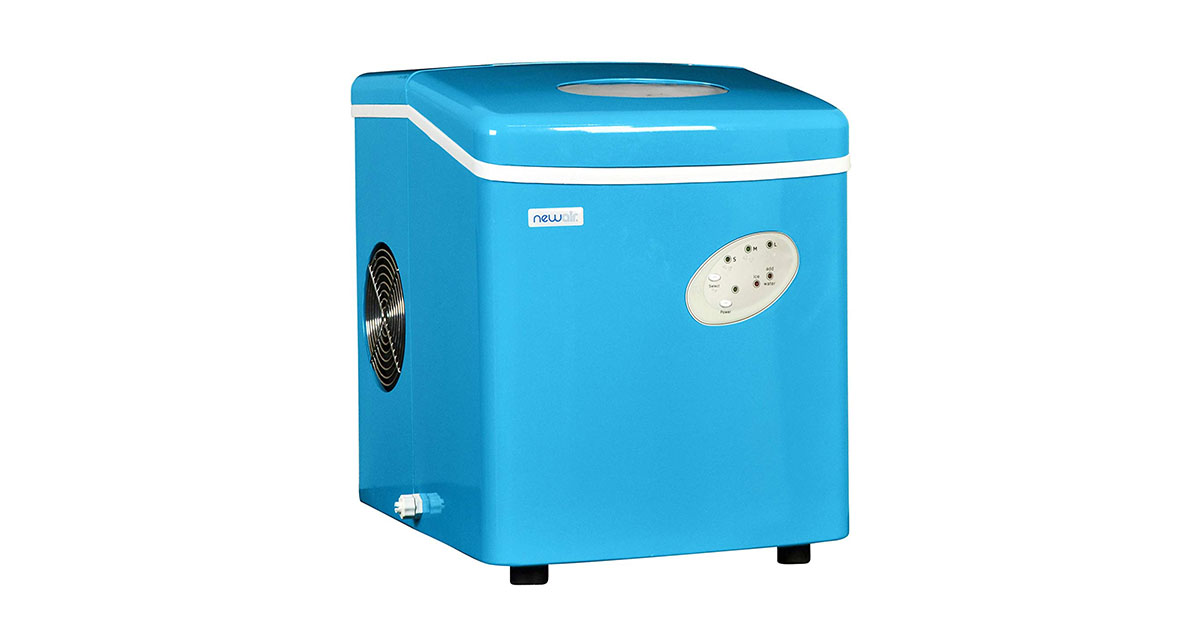 NewAir AI-100CB Portable Blue Ice Maker 28 lb 3 Size Bullet Shaped Ice image