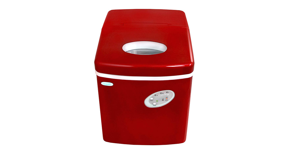 NewAir AI-100R Red Portable Ice Maker 28 lb image