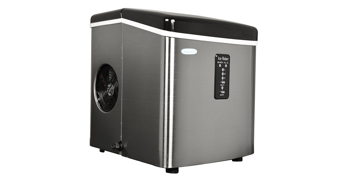 NewAir AI-100SS Stainless Steel Portable Ice Maker 28 lb image