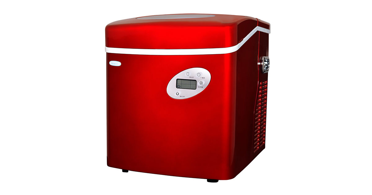 NewAir AI-215R Red Portable Ice Maker 50 lb image