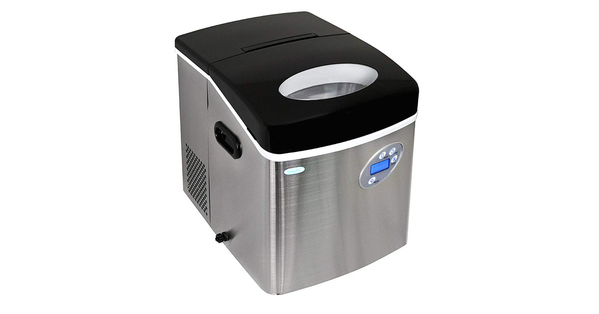 NewAir AI-215SS Stainless Steel Portable Ice Maker 50 lb image