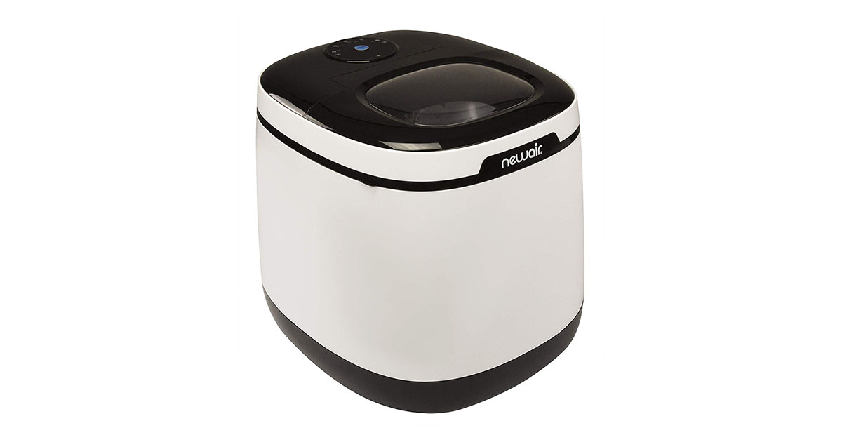 NewAir AI-250W Black White Portable Ice Maker 50 lb image