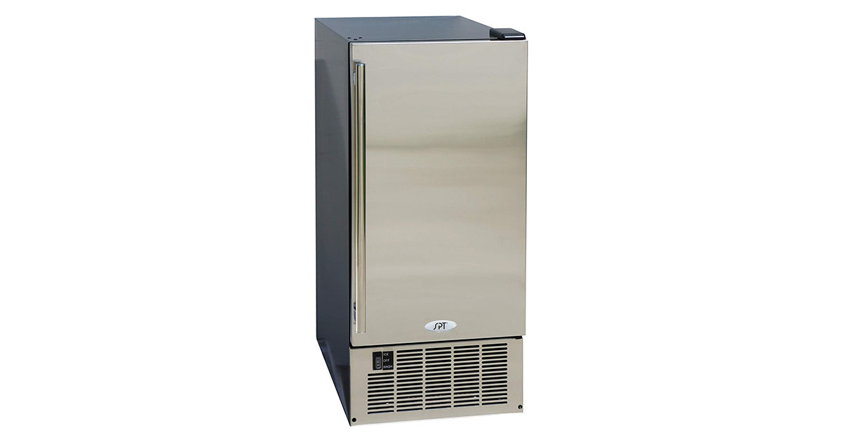 SPT IM-600US Stainless Steel Under Counter Ice Maker 50-Pound image