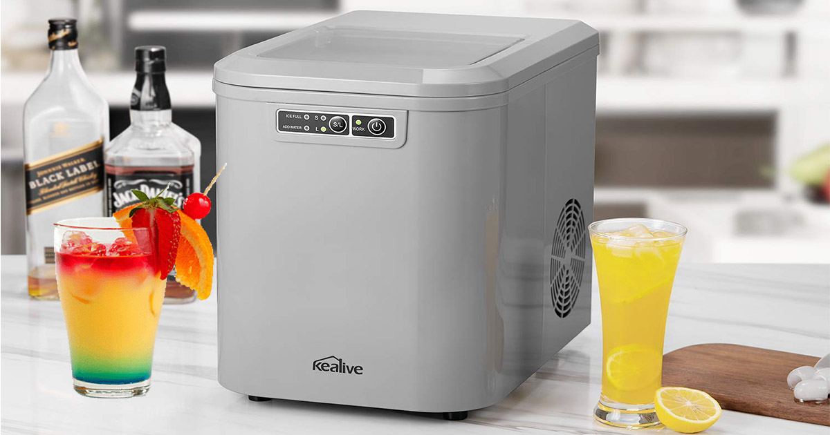 Stainless Steel By Kealive Ice Maker Machine 48 Lbs Ice In 24 Hours Portable Ice Maker For Countertop Clear Square Ice Cubes Ready In 15 Minutes With 2 4 Lbs Storage And Scoop Talkingbread Co Il