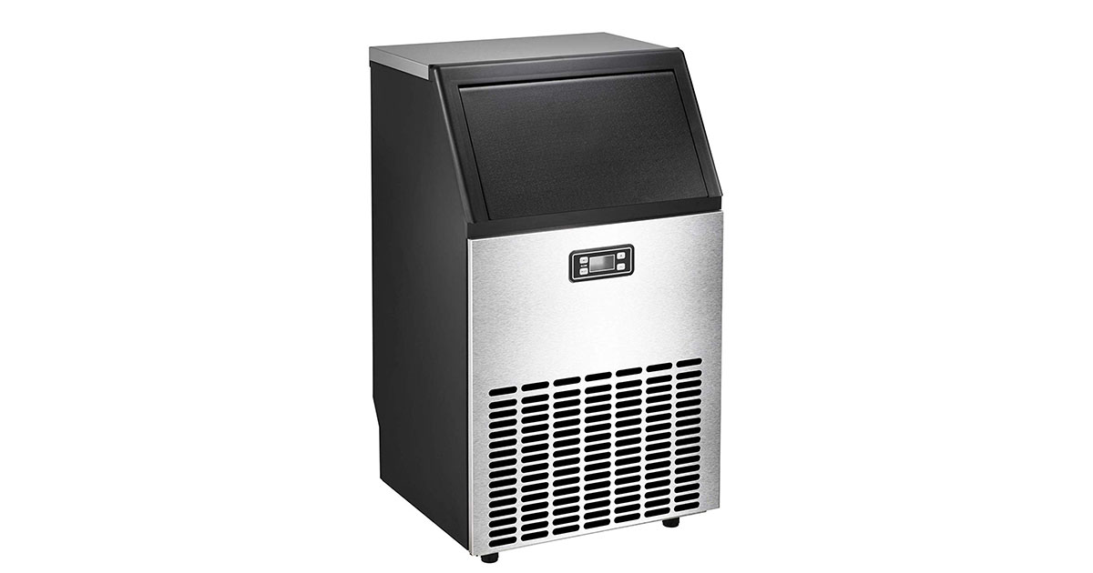 AGLUCKY Commercial Ice Maker High Efficiency Large Ice Maker image