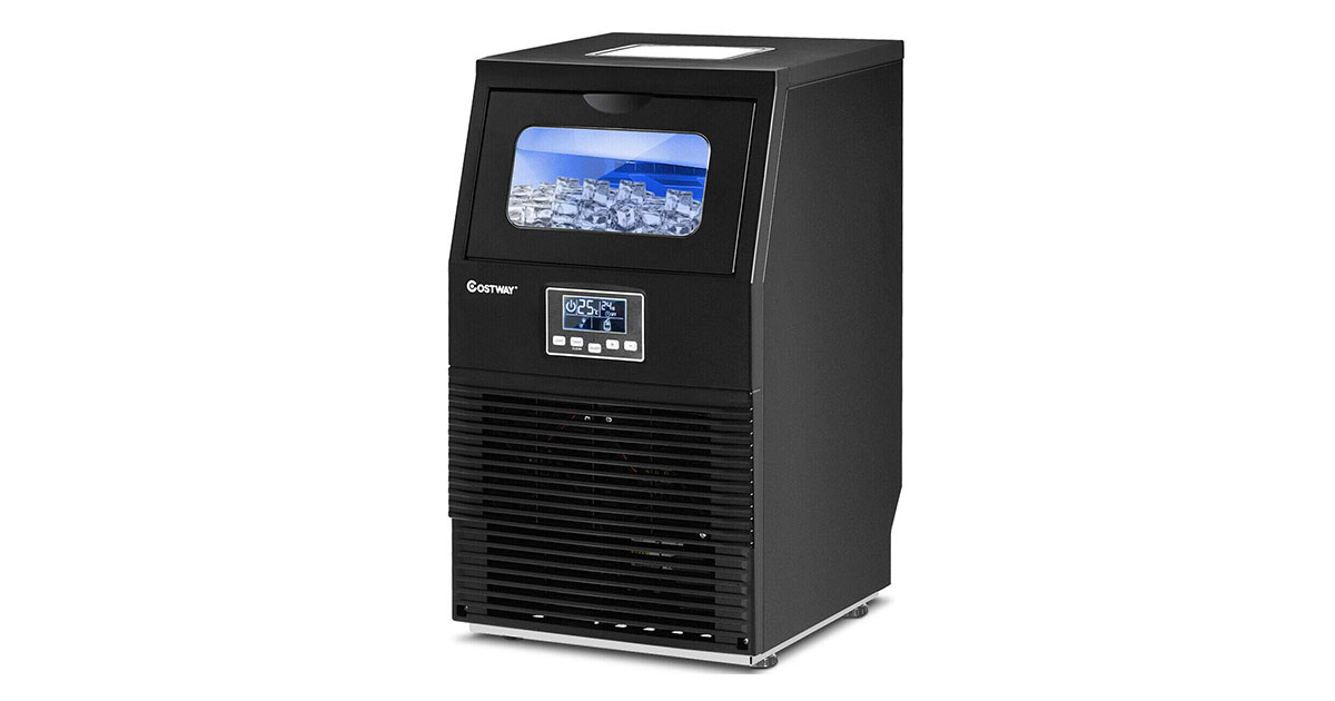 COSTWAY Commercial 23703 CYPE Ice Maker 88 LBS 24H Automatic Portable Freestanding Ice Cube Maker image