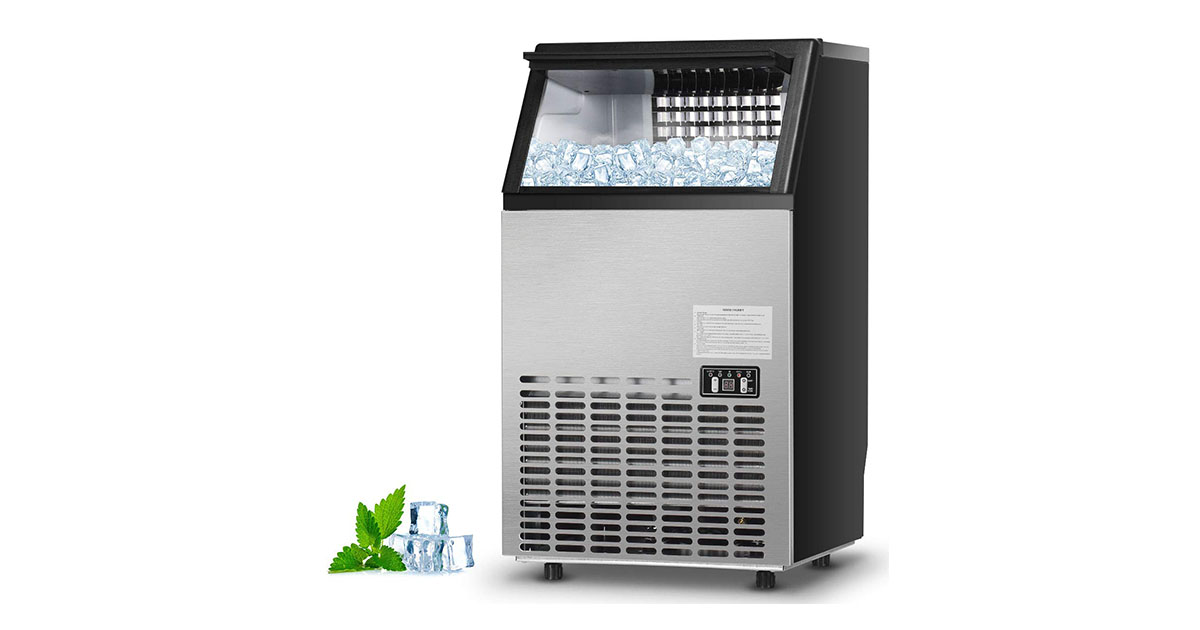 Costzon Commercial Ice Maker Built In Stainless Steel 110LBS/24H-33LBS Storage Capacity image
