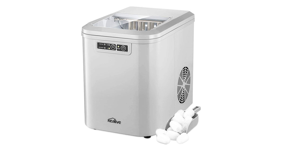 Kealive Countertop Ice Maker with LED Display 2 Quart Water Tank and Ice Scoop image