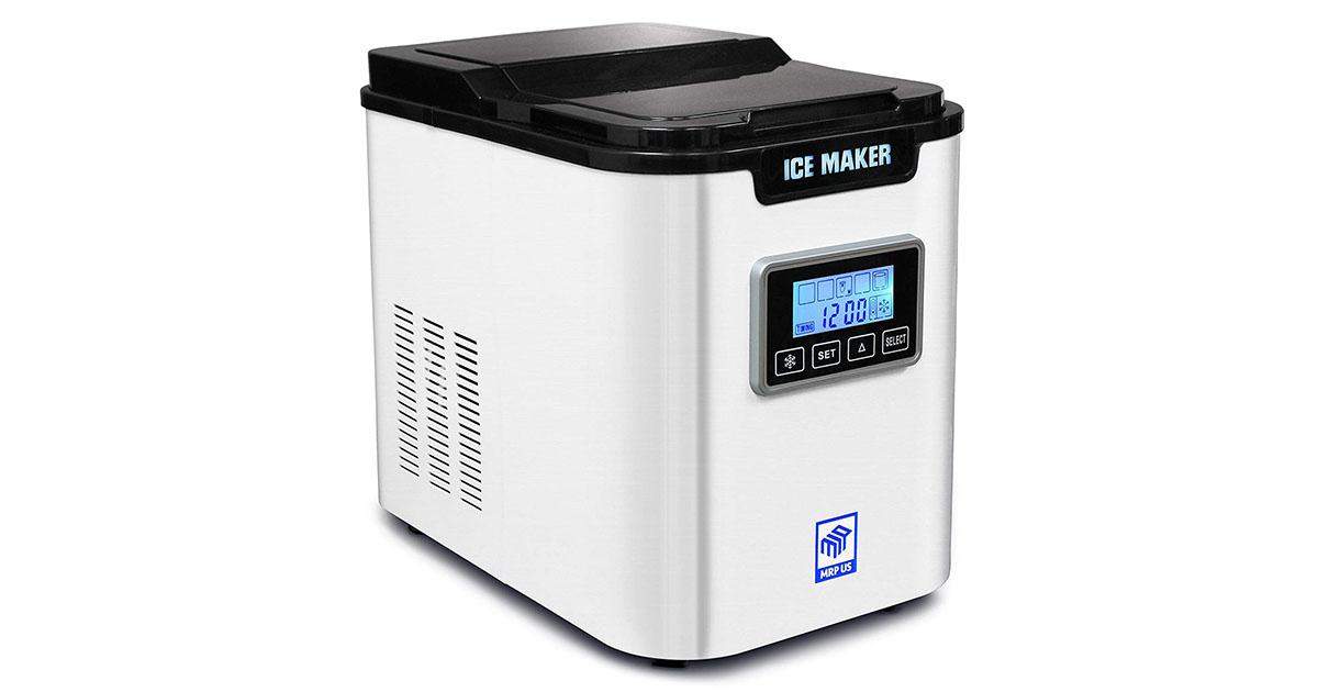 MRP US Portable Ice Maker IC703 With 3 Selectable Cube Size and Timer White image