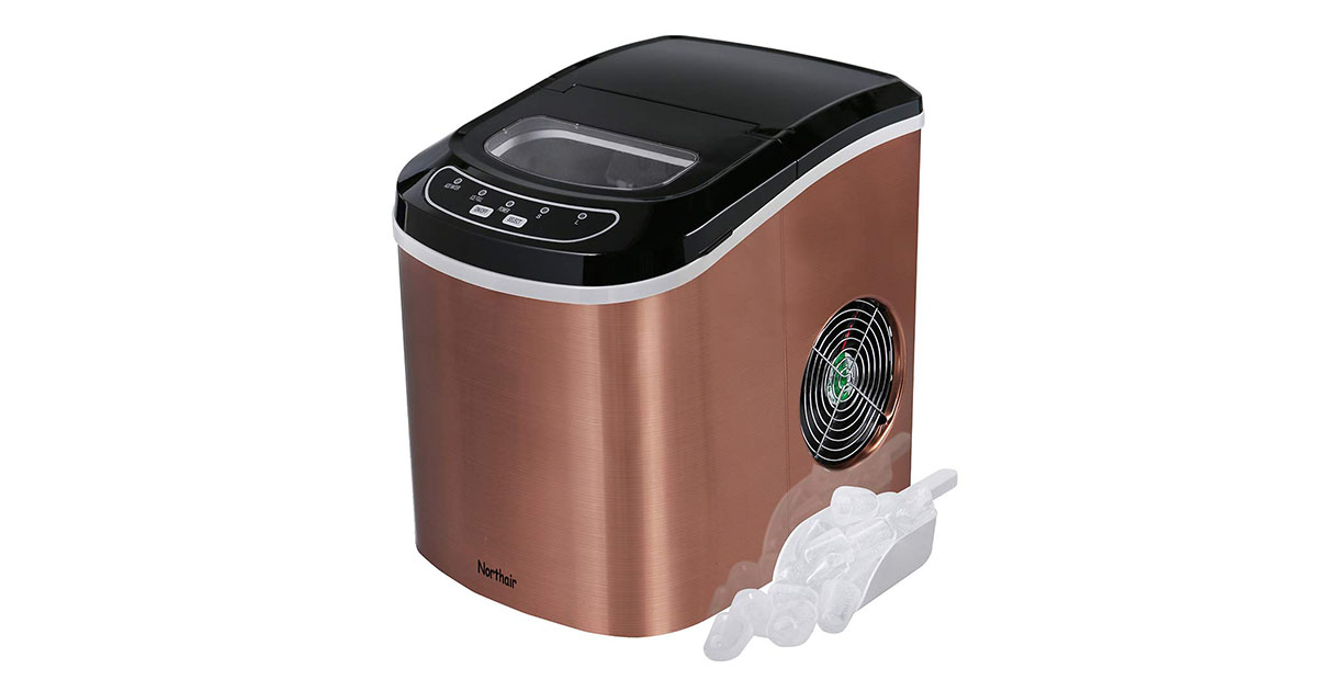 Northair Portable Ice Maker Machine Counter Top HZB-12 SA Copper image