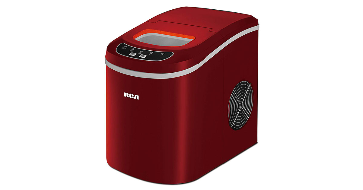 RCA ICE102-Red Compact Ice Maker image