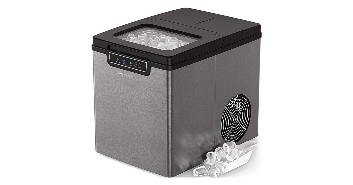 Vremi Countertop VRM010636N Ice Maker Portable Stainless Steel image